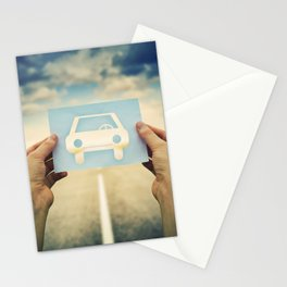 car icon Stationery Cards