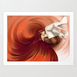 Time Antigrav - Red Art Print