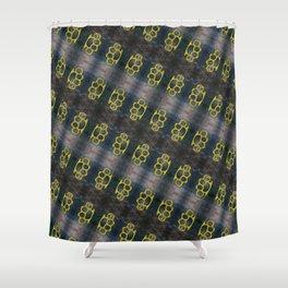 Brass Knuckles Pattern Shower Curtain