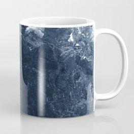 Navy Marble Coffee Mug