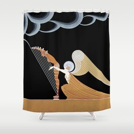 "Art Deco Design ""The Angel"" Shower Curtain"