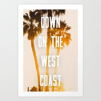 west coast Art Prints featuring WEST COAST by Jack Stobart