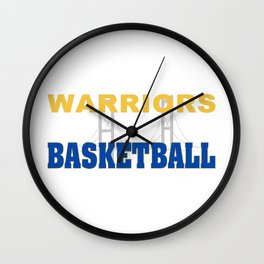 Basketball In The Bay Wall Clock