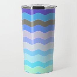 Bright Blue Bars Travel Mug