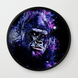 gorilla monkey face expression wscb Wall Clock