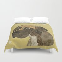great dane Duvet Covers featuring the great dane by bri.buckley