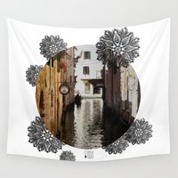 venice Wall Tapestries featuring Venice by Caroline Fogaça