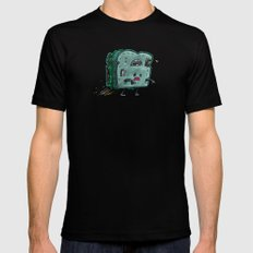 Moldy Sandwich Bot Black Mens Fitted Tee SMALL