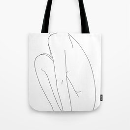 Nude figure line drawing illustration - Dyna Tote Bag