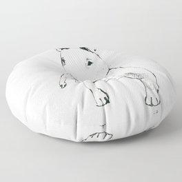 A Bull Terrier Puppy Floor Pillow