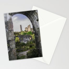 MINE RUINS AT WHEAL BASSET STAMPS CORNWALL Stationery Cards