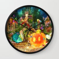 cinderella Wall Clocks featuring Cinderella by Aimee Stewart