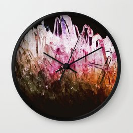 Rainbow quartz Wall Clock