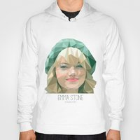 emma stone Hoodies featuring Emma Stone by You Xiang