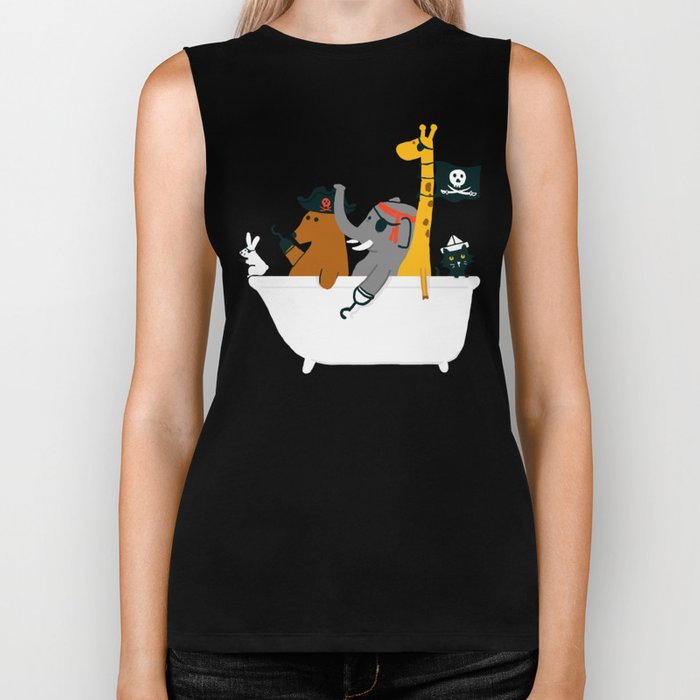 Everybody wants to be the pirate Biker Tank