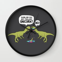 The Last Unicorn TRex Eaten Dino Gift Wall Clock