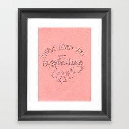 EVERLASTING - pink Framed Art Print