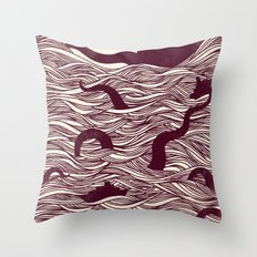Octopus The Rising Sun II Throw Pillow