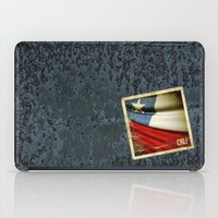 chile iPad Cases featuring Chile grunge sticker flag by Lulla
