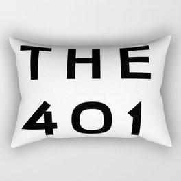 401 Rhode Island Area Code Typography Art Rectangular Pillow