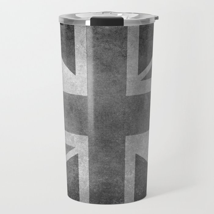 British Union Jack flag 1:2 scale retro grunge Travel Mug