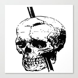 Skull of Phineas Gage With Tamping Iron Canvas Print