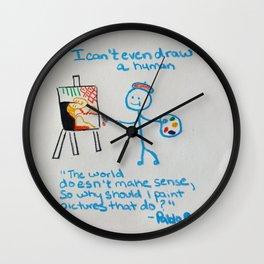 "t-shirt:""I can't even draw a stick figure"" Wall Clock"