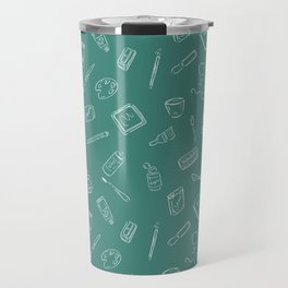 Art Supplies Chalkboard Travel Mug