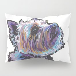 Fun Cairn Terrier Dog Portrait bright colorful Pop Art Painting by LEA Pillow Sham