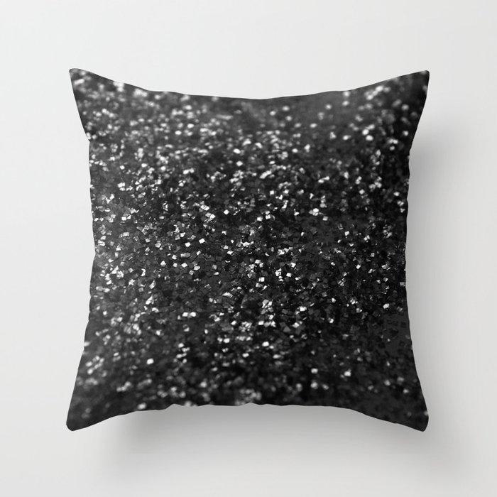 Black & Silver Glitter #1 #decor #art #society6 Deko-Kissen