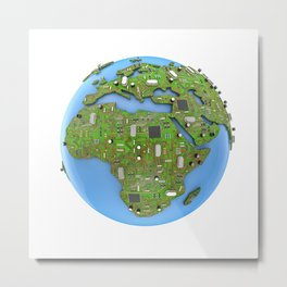 Data Earth Metal Print