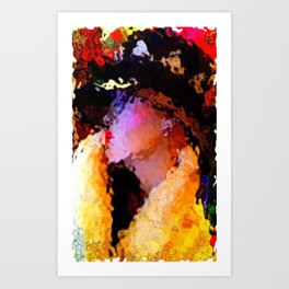 Summer's Over: The Girl In The Harlequin Hat Art Print