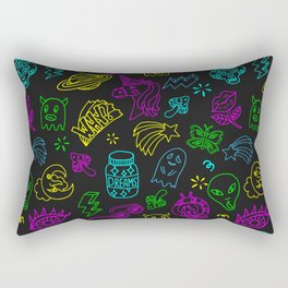 Space theme patch badge outline pattern Rectangular Pillow