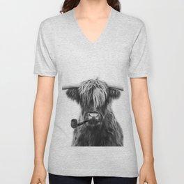 Mr Highland cattle Unisex V-Neck