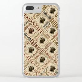 Bullmastiff Word Art Clear iPhone Case