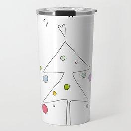 Cute Graphic Christmas Tree Travel Mug