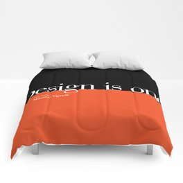 Design is One — Honoring Massimo Vignelli Comforters