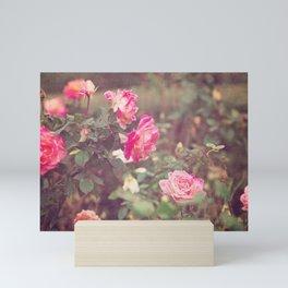 Vintage roses - Moody Florals, No. 2 Mini Art Print