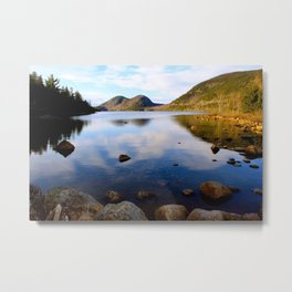 Peaceful Jordan Pond Metal Print
