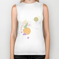 kandinsky Biker Tanks featuring Abstract Fruits by Mabel S