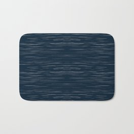 Meteor Stripes - Dark Denim Bath Mat