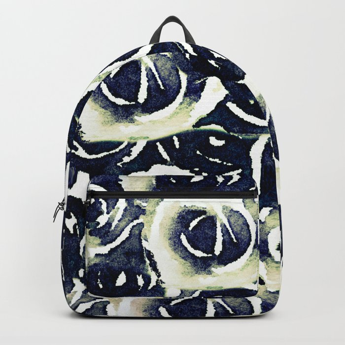 roses in deep blue Backpack