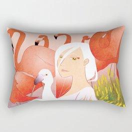 13 Flamencos Rectangular Pillow