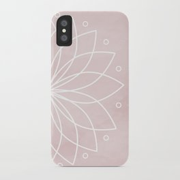 Mandala on Pink Watercolor Background iPhone Case