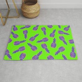 modern pink Pineapple pattern design - green Rug