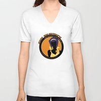 bebop V-neck T-shirts featuring Bebop Faye by AngoldArts