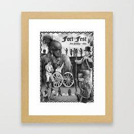 Fort Fest Illustration Framed Art Print