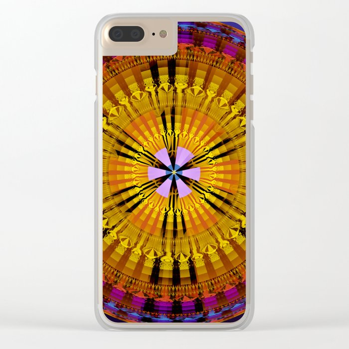 Abstract patterns mandala Clear iPhone Case