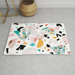 Mixed Mess I. / Collage, Terrazzo, Colorful Rug