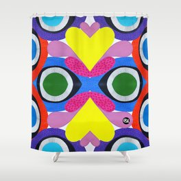 CRAZY COLORFUL Shower Curtain